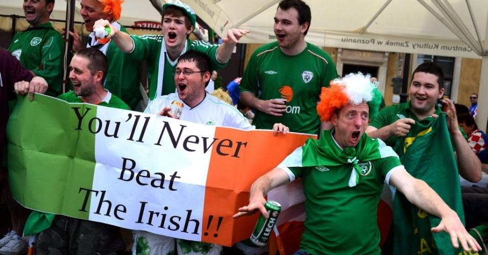 Irlandeses mostram confiança antes da partida contra a Croácia pelo grupo C da Euro-2012