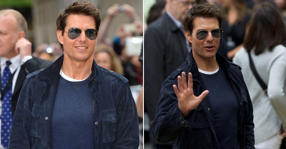 """Tom Cruise chega a pré-estreia europeia de seu novo filme """"Rock Of Ages"""", em Londres Inglaterra (10/6/12)"""