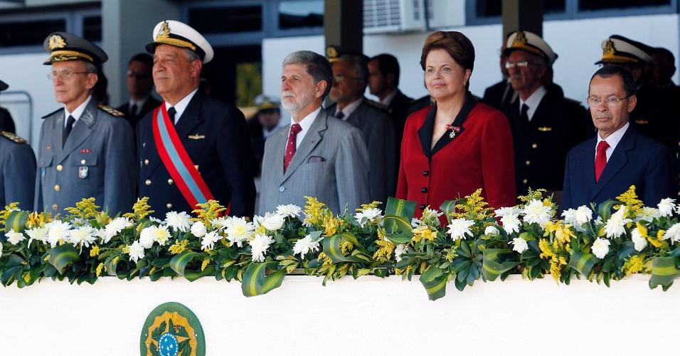 11.jun.2012 - A presidente Dilma Rousseff participa da cerimônia do 147º aniversário da Batalha Naval do Riachuelo, em Brasília