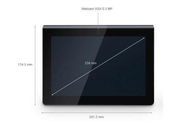 Além da câmera traseira, de 5 megapixels de resolução, o tablet tem uma câmera frontal VGA