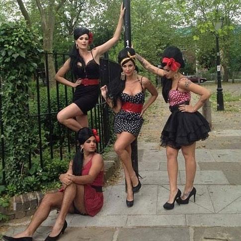 Ana Hickmann se veste Amy Winehouse com Dani Bolina e Lizi Benites