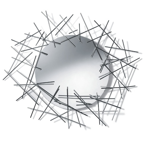 Com design arrojado assinado pelos irmãos Campana, o espelho Blow Up tem moldura em aço cromado. A peça mede 86,5 x 74,5 cm e está à venda na Benedixt (www.benedixt.com.br) por R$ 1.324