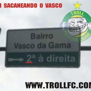 Corneta FC: Vasco é cornetado até por placa de trânsito