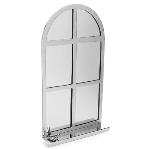 Divertido, o espelho da Imaginarium (www.imaginarium.com.br) imita o formato de uma janela. Para ser empregado em salas ou quartos, o produto tem 71 x 39 cm e é feito em alumínio. Custa R$ 259,90