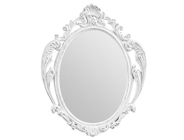 Os espelhos barrocos estão em alta. Esse modelo, à venda na Tok&Stok (www.tokstok.com) mede 25 x 30 cm e tem moldura feita em resina pintada com acabamento desgastado. À venda por R$ 39,90