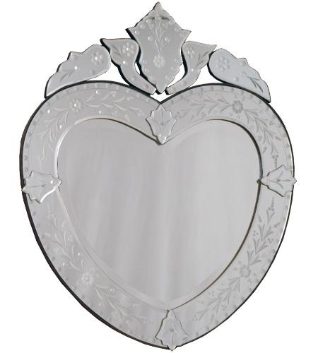 Os românticos irão gostar de ter esse espelho na sala de casa. Com formato de coração e moldura veneziana, o acessório mede 1 x 0,84 m e está à venda na Coisas da Doris (www.coisasdadoris.com.br) por R$ 2.000