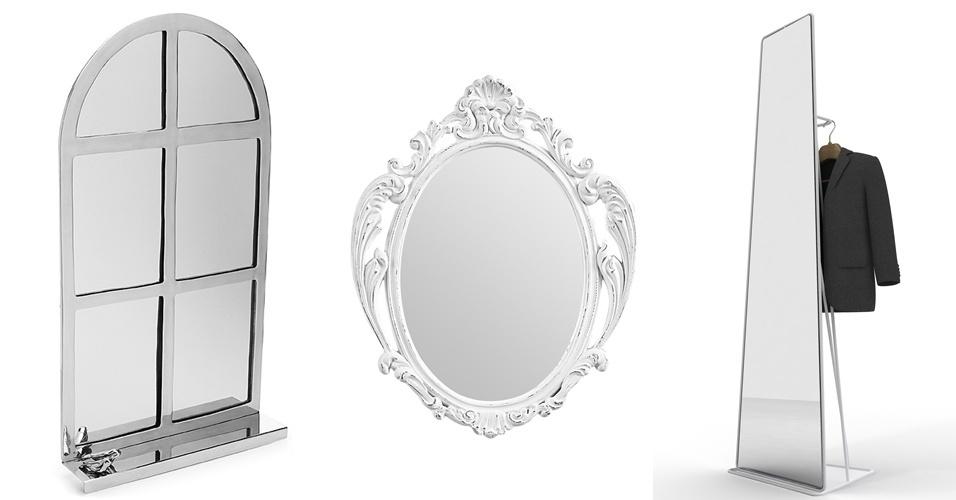 Qual tipo de espelho mais de adapta à decoração da sua casa? O UOL Casa e Decoração fez uma seleção de modelos que vão do romântico ao moderno. Inspire-se