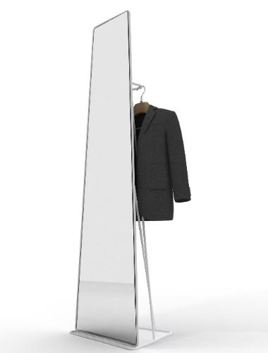 Uma opção para quem busca um espelho de corpo inteiro é o Watergate, que tem design de Roberto Paoli. A peça tem estrutura de metal em formato trapezoidal e está disponível nas cores preto, verde e amarelo. Mede 39 x 32 x 161 cm e é comercializado por R$ 2.890 na Casa Matriz (www.casamatriz.com.br)