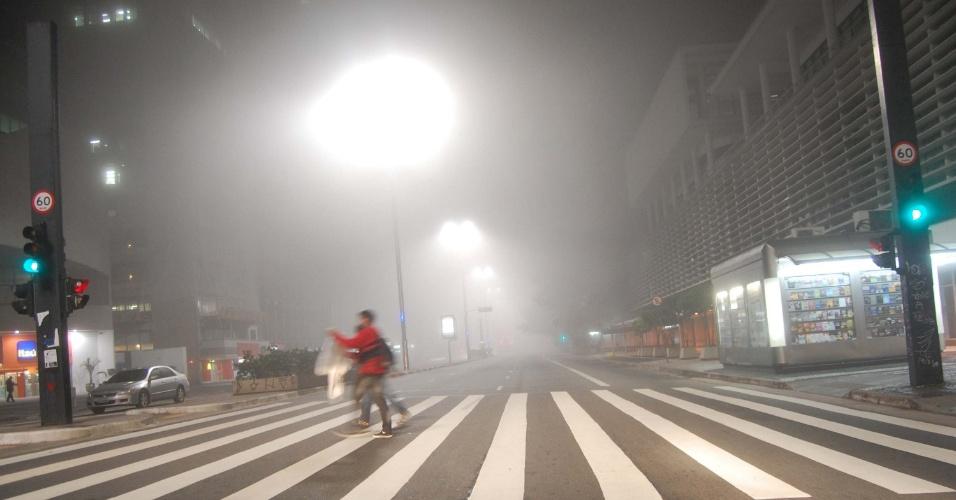 12.jun.2012 - Neblina na região da avenida Paulista, em São Paulo
