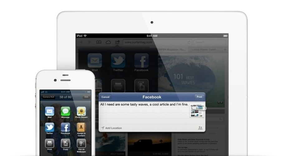 Facebook no iOS 6