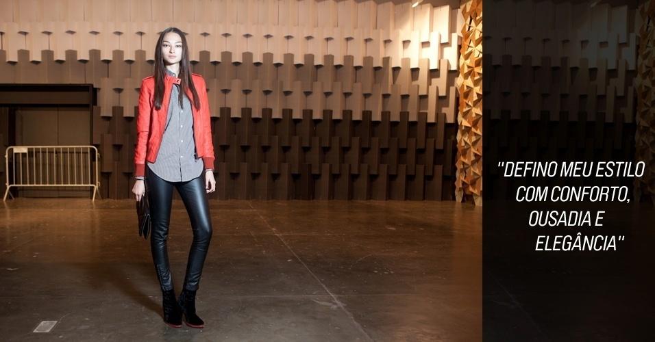 Moda da rua SPFW - dia 1 - look Bruna Tenório