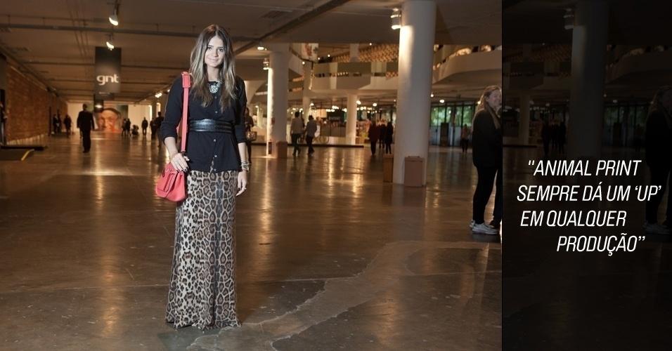 Moda da rua SPFW - dia 1 - look Thássia Naves