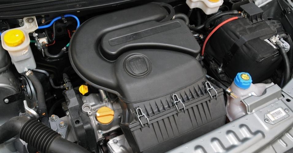 Motor da versão Attractive é o Fire Evo 1.4 -- lançado no novo Uno --, de até 88 cv, a 5.750 rpm, e 12,5 kgfm de torque, com etanol no tanque