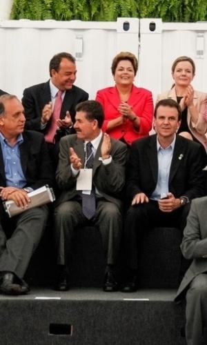 13.jun.2012 - Presidente Dilma Rousseff durante cerimônia de abertura do Pavilhão Brasil na Conferência das Nações Unidas sobre Desenvolvimento Sustentável Rio+20