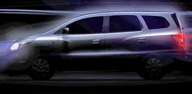 Chevrolet divulgou o primeiro teaser oficial da Spin, que finalmente teve o nome confirmado