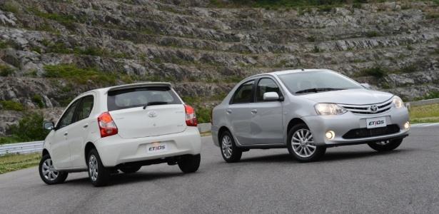 Família compacta da Toyota, Etios hatch e sedã terão preços entre R$ 30 mil e R$ 45 mil
