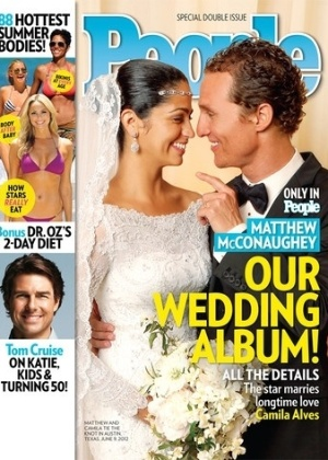 Revista exibe foto de Camila Alves e do ator Matthew McConaughey no dia do casamento (13/6/12)
