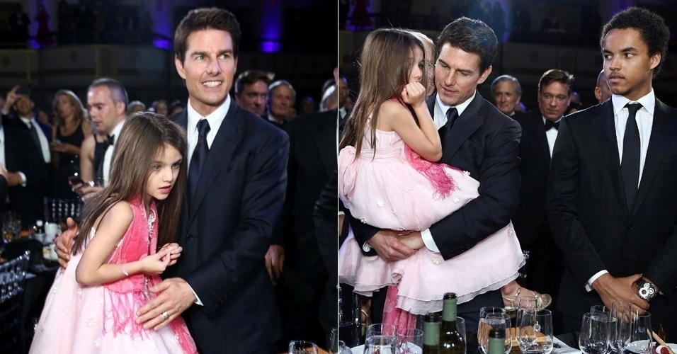 A filha de Tom Cruise e Kate Holmes, Suri (6), deu trabalho para o pai na noite do Entertainment Icon Awar, realizado na &#250;ltima ter&#231;a-feira (12) em Nova York. Suri fez manha e Cruise teve que carregar a menina no colo equanto recebia uma das homenagens. O filho mais velho do astro, Connor, do seu casamento com Nicole Kidman tamb&#233;m esteve presente   