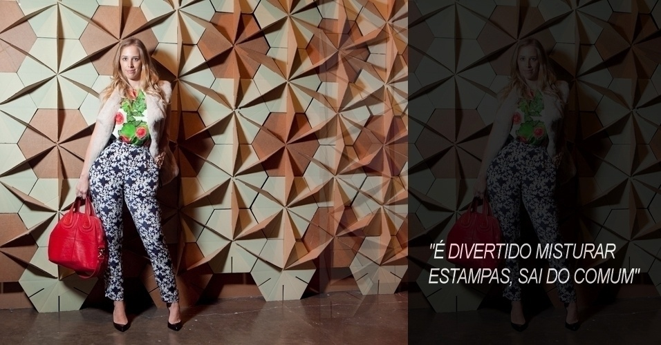 A jornalista Duda Maia, 27, usa look Isolda London com bolsa Givenchy e sapato Christian Louboutin (12/06/2012)