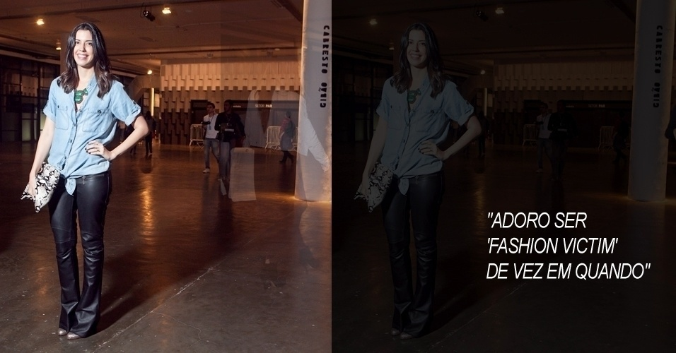 Camila Coutinho, 24, blogueira do Garotas Estúpidas, veste camisa Zara, calça Le Lis Blanc, sandália Christian Louboutin e colar Le Amitié (13/06/2012)