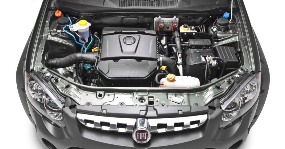 Palio Weekend Adventure é equipada com o motor 1.8 E.torq de 132 cv e 18,9 kgfm de torque (com etanol) e 130 cv e 18,4 mkgf (gasolina)