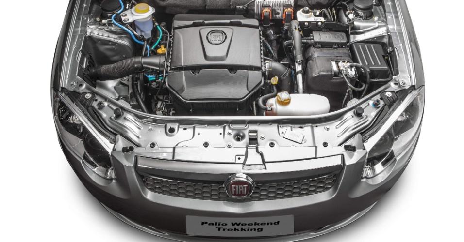 Motor da Palio Weekend Attractive é o Fire Evo 1.4 -- o mesmo que equipa o Uno --, de até 86 cv e 12,5 kgfm de torque, com etanol no tanque