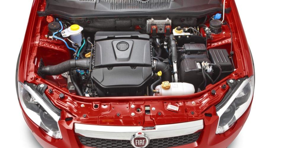 Motor 1.6 16V E.torq de 117 cv e 16,8 kgfm de torque rende um pouco menos com gasolina no tanque: são 115 cv e 16,2 kgfm de torque