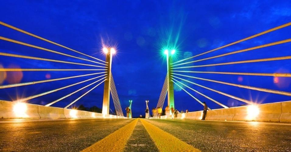 Ponte da Integração Brasil-Peru, em Assis Brasil (AC)