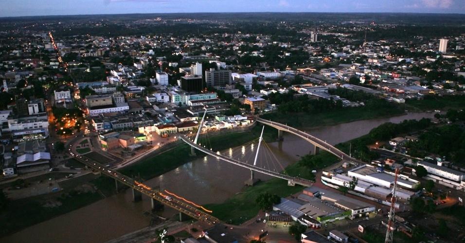 Vista aérea da cidade de Rio Branco (AC)