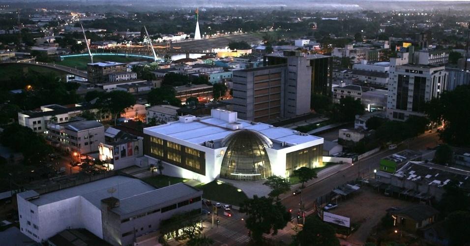 Vista aérea parcial da cidade de Rio Branco (AC)