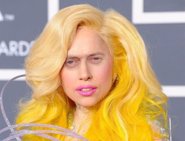 Acrescentar olhos de Steve Buscemi - Os olhos ator americano, dos filmes ''Cães de Aluguel'' e ''Pulp Fiction'', foram parar em montagens substituindo os olhos originais das celebridades. Na foto, a cantora Lady Gaga