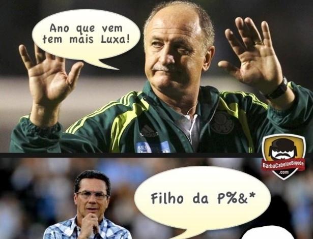 Corneta FC: Luxa fica chateado com cornetada de Felipão