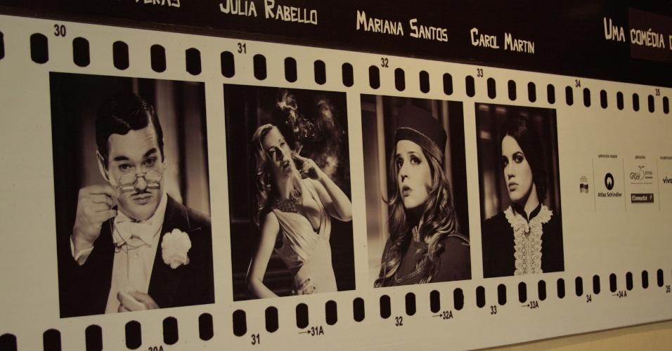 """Elenco de """"Atreva-se"""", peça inspirada no cinema noir que estreia no próximo dia 22, em São Paulo"""