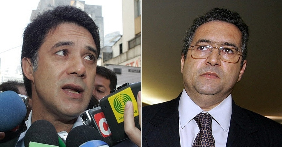 Silvio Pereira (esq.) e Jos&#233; Janene (dir.), ex-r&#233;us do mensal&#227;o
