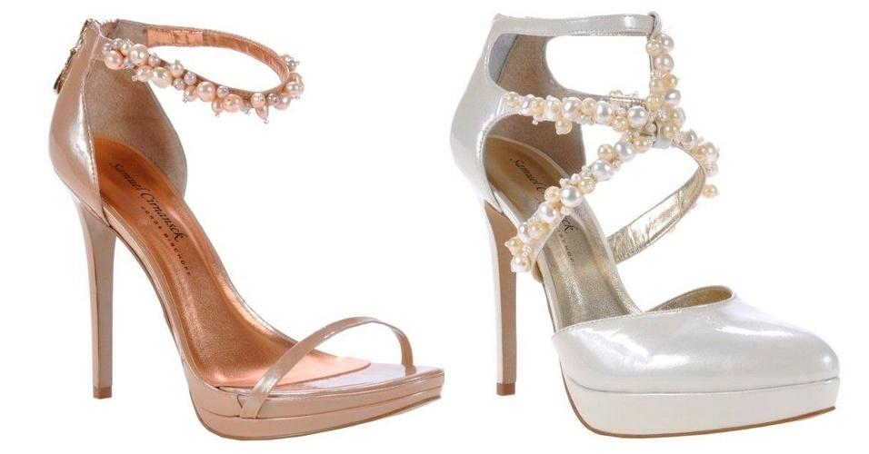 Em parceria com a Jorge Bischoff, Samuel Cirnansck apresentou modelos clássicos de sapatos, mas com um toque de romantismo, por meio dos bordados com pérolas