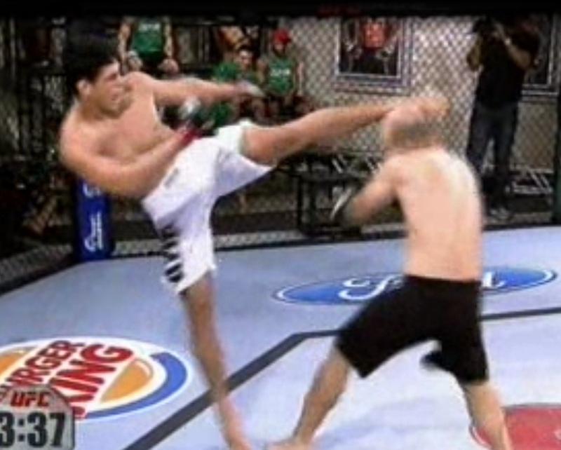 Cezar Mutante acerta chute na cabeça de Bodão e nocauteia o lutador do