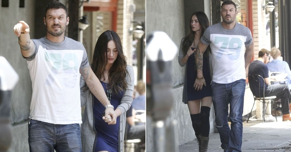 Gr&#225;vida de seu primeiro filho, Megan Fox &#233; vista com barriga saliente (16/6/12)