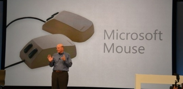 Mouse da Microsoft durante apresenta&#231;&#227;o