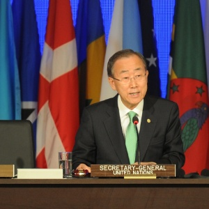 O secretário-geral da ONU em discurso na Rio+20