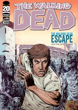 "Décima capa da centésima HQ de ""The Walking Dead"""