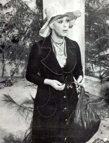 """Cena da novela """"João da Silva"""" (1974), com a atriz Heloísa Helena"""