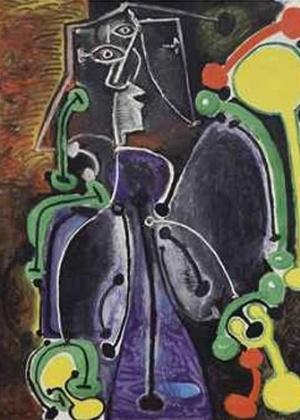 """""""Femme assise"""", de Picasso, é vendido por 8,5 milhões de libras em leilão"""