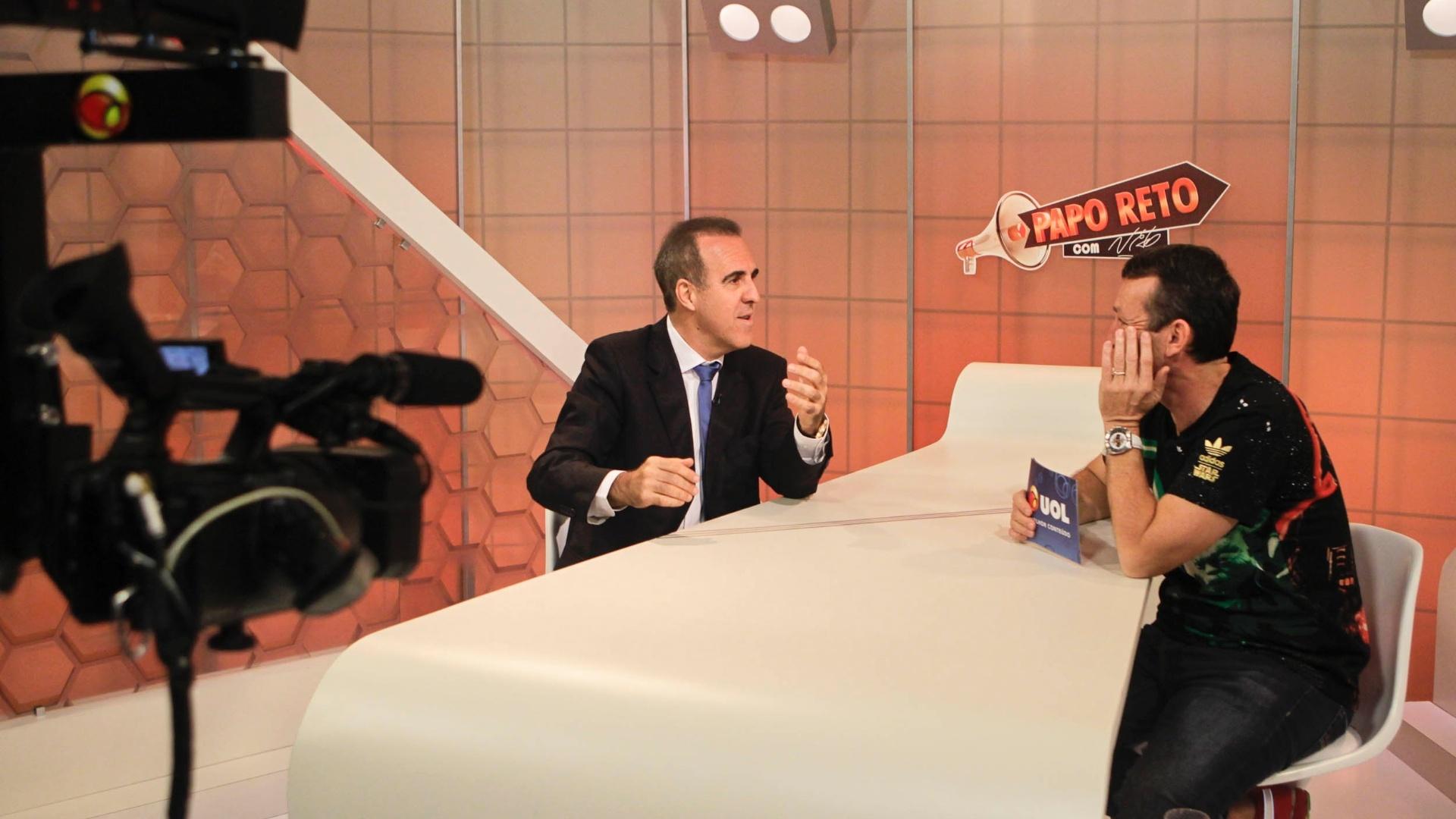 Neto entrevista Wagner Ribeiro para o programa Papo Reto, do UOL