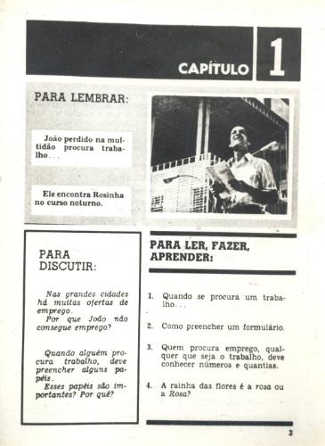 """Volume 1 do livro de apoio do curso supletivo """"João da Silva"""" (1974)"""