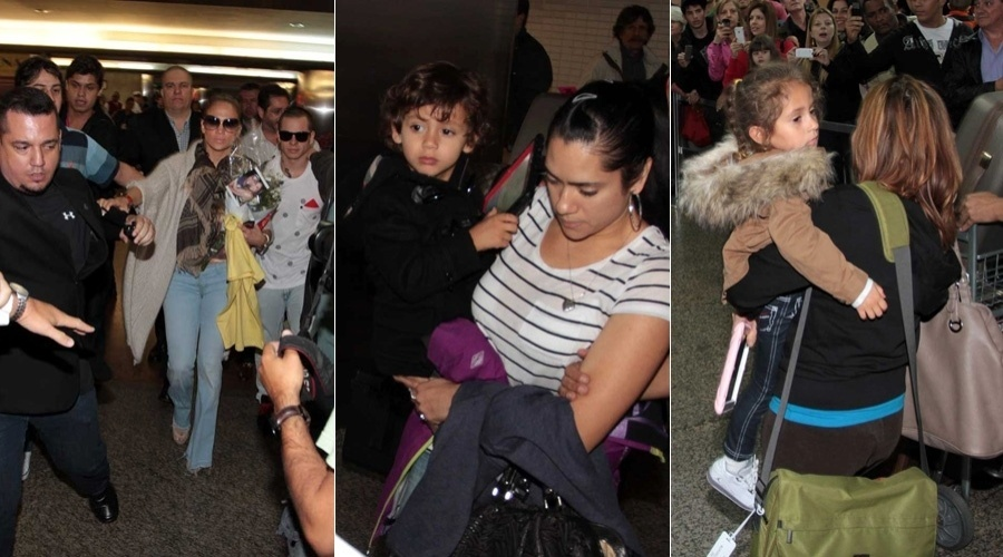 Jennifer Lopez desembarcou no aeroporto de Guarulhos, em São Paulo (22/6/12)