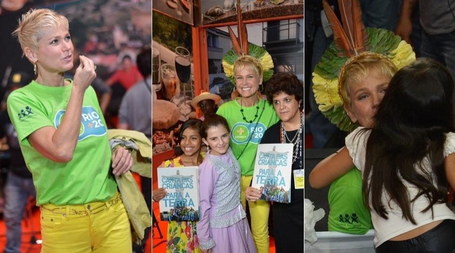 """Xuxa participou do evento """"+ Criança na Rio +20"""" que aconteceu nesta sexta no Forte de Copacabana, zona sul do Rio (22/6/12)"""
