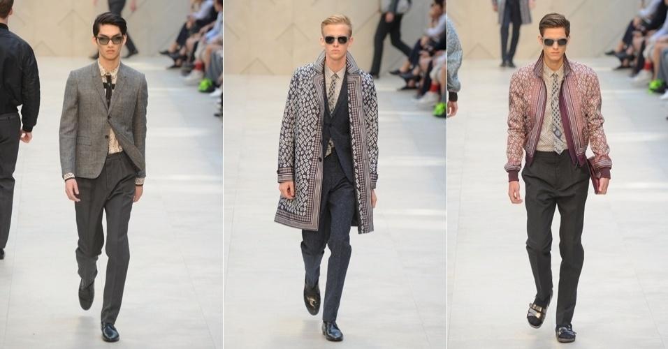 ... britânica Burberry na semana da moda masculina de Milão, na Itália