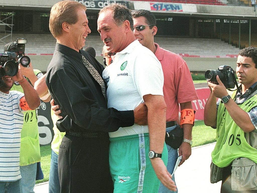 Felipão encontra Émerson Leão, na época, treinador do Atlético-MG