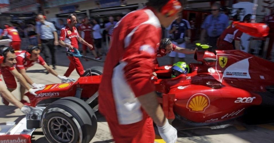 Felipe Massa ficou fora da última etapa do treino e lamentou a 13ª colocação
