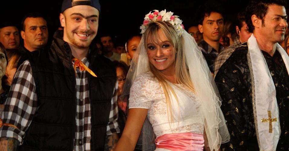 Juju Salimeni se veste de noiva em festa junina no Jockey Clube de São Paulo. (22/6/12). A festa foi organizada pela Ong Florescer